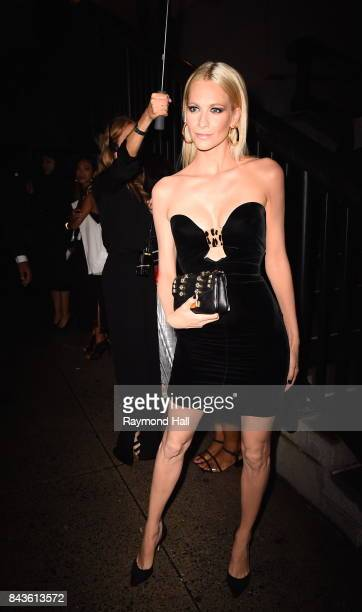 Model Poppy Delevingne arrives to the Tom Ford Spring/Summer 2018 Runway Show at Park Avenue Armory on September 6, 2017 in New York City.