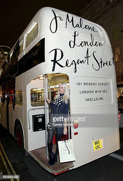 Model Poppy Delevingne attends Jo Malone London Lands On Regent Street on October 29 2015 in London England