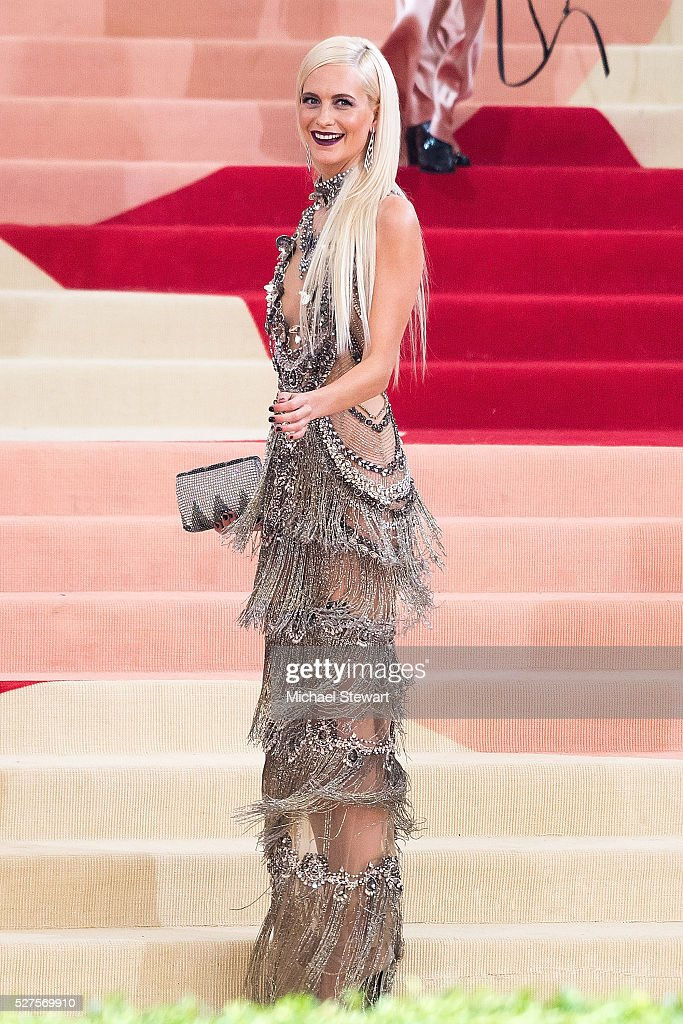 Model Poppy Delevingne attends 'Manus x Machina: Fashion in an Age of Technology' Costume Institute Gala at Metropolitan Museum of Art on May 2, 2016 in New York City.