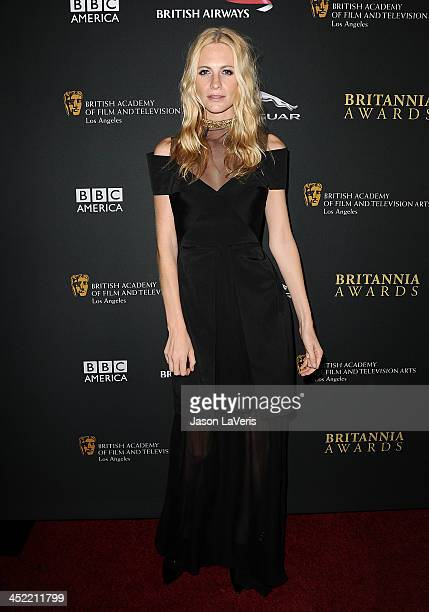 Model Poppy Delevingne attends the BAFTA Los Angeles Britannia Awards at The Beverly Hilton Hotel on November 9 2013 in Beverly Hills California