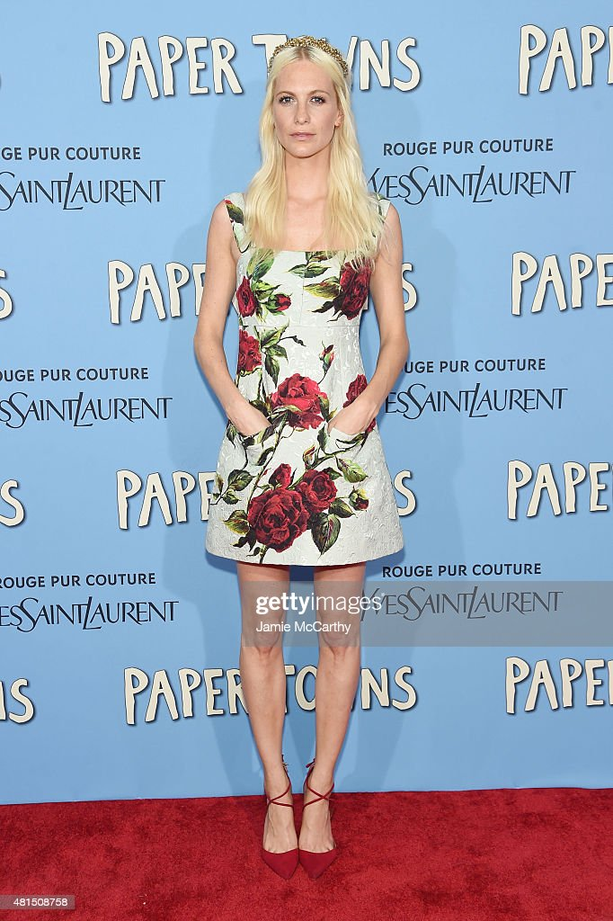 Model Poppy Delevingne attends the New York premiere of 'Paper Towns' at AMC Loews Lincoln Square on July 21, 2015 in New York City.