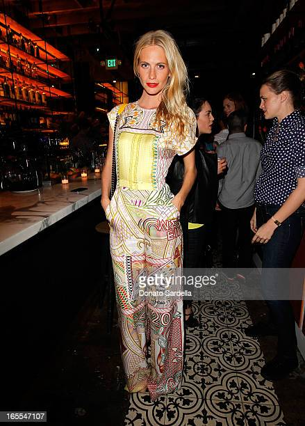 Model Poppy Delevingne attends Vogue's Triple Threats dinner hosted by Sally Singer and Lisa Love at Goldie's on April 3 2013 in Los Angeles...