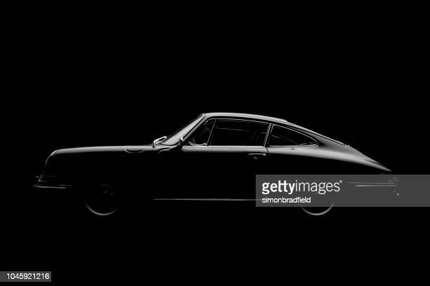 Model Porsche 911 In Black And White