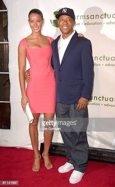 Model Porschla Coleman and Fashion/Music mogul Russell Simmons arrive to the 2008 Farm Sanctuary Gala for Farm Animals at Cipriani Wall Street on May...