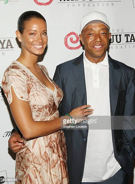 Model Porschla Coleman and mogul Russell Simmons attend the 5th Annual Wayuu Taya Fundraising Gala on June 5, 2008 at The Bowery Hotel in New York.
