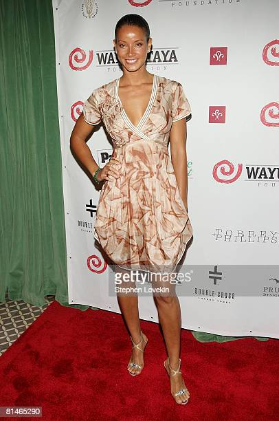 Model Porschla Coleman attends the 5th Annual Wayuu Taya Fundraising Gala on June 5, 2008 at The Bowery Hotel in New York.
