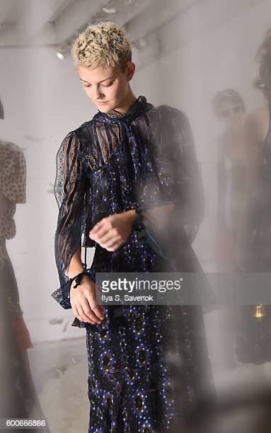 A model pose at Cynthia Rowley Presentation during New York Fashion Week The Shows on September 8 2016 in New York City