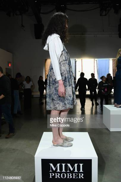 A model pose for Mimi Prober at the Fashion For Peace Fashion Presentation during New York Fashion Week The Shows at Gallery I at Spring Studios on...