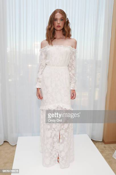 A model poses as Brides and Rachel Zoe celebrate Rachel Zoe's Bridal launch on June 25 2018 in New York City