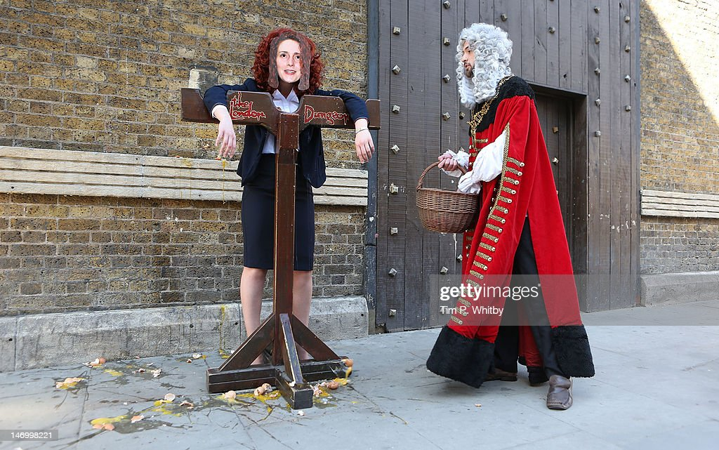 Rebekah Brooks Gets Condemned To The Stocks At The London Dungeon