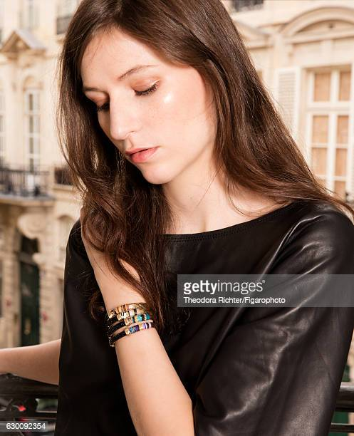 Model poses at a fashion shoot for Madame Figaro on July 1 2016 in Paris France Massai bracelets and top PUBLISHED IMAGE CREDIT MUST READ Theodora...