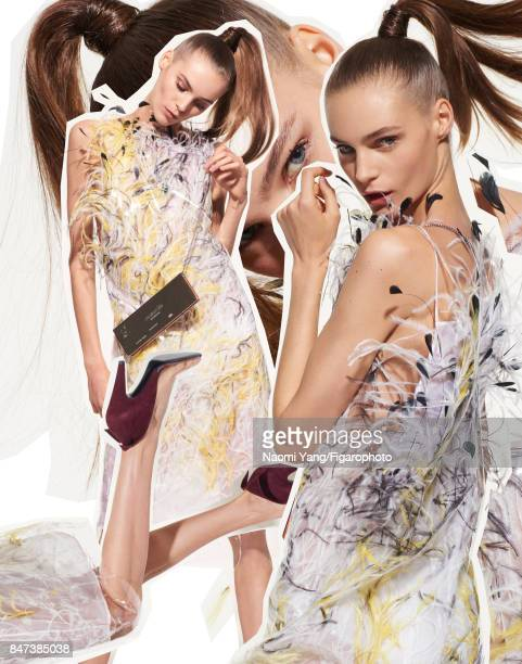 Model poses at a fashion shoot for Madame Figaro on July 6 2017 in Paris France All PUBLISHED IMAGE CREDIT MUST READ Naomi Yang/Figarophoto/Contour...