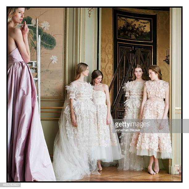 374cdc743038 Model poses at a fashion shoot for Town Country Magazine on January 24 2013  in Paris