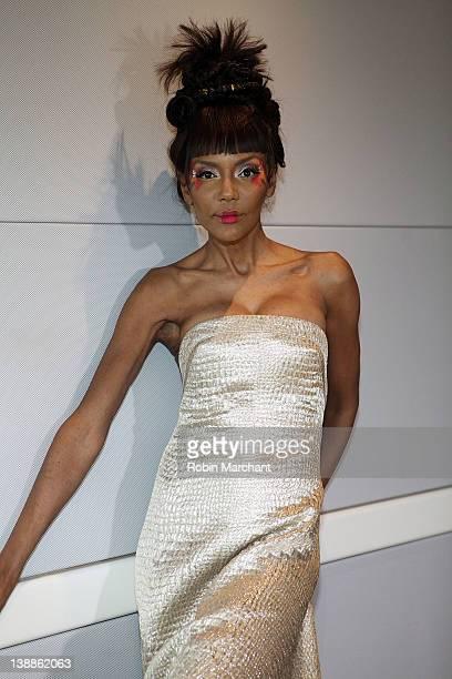 A model poses at the Czar by Cesar Galindo fall 2012 presentation during MercedesBenz Fashion Week at Doyho Restaurant at Yotel on February 12 2012...
