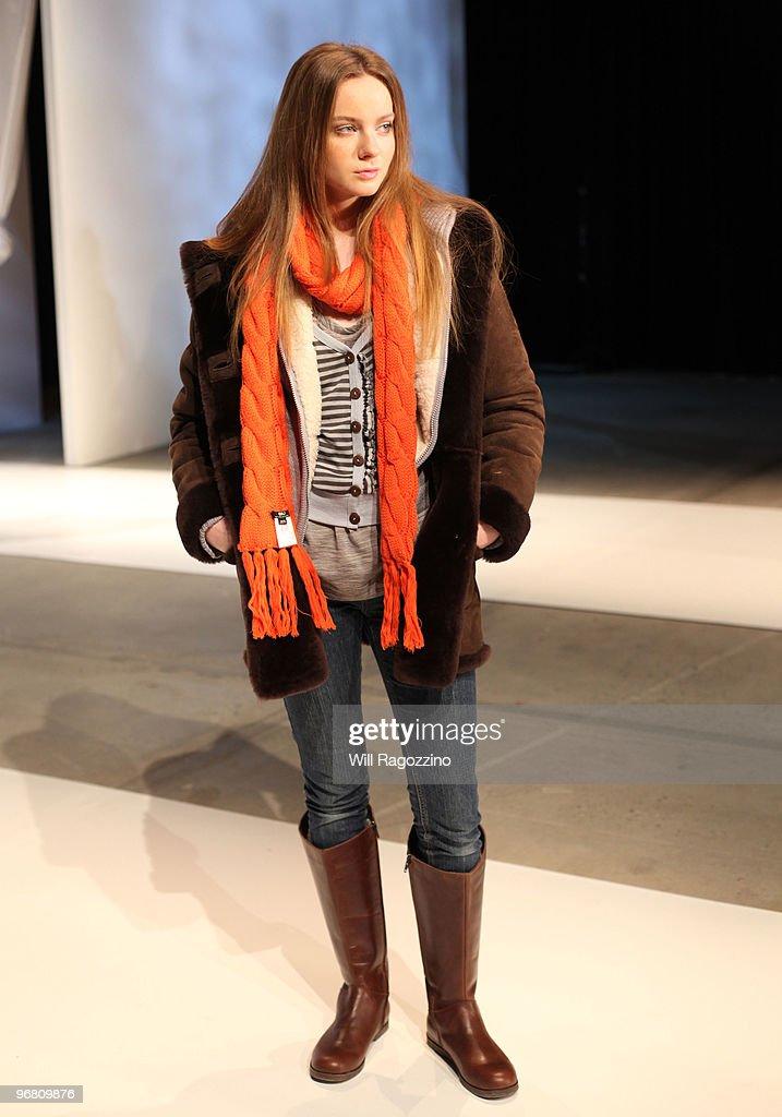 55ca025422 A model poses at the Emu Australia Fall/Winter 2010 Fashion... News ...