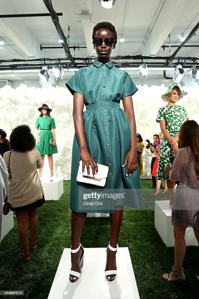 A model poses at the Kate Spade New York Presentation during Mercedes-Benz Fashion Week Spring 2015 at Center 548 on September 5, 2014 in New York City.