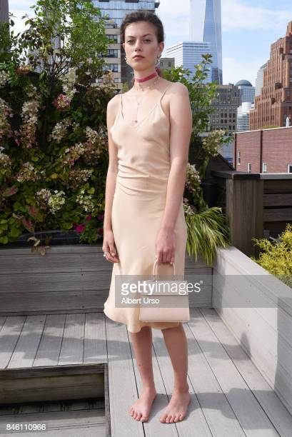 A model poses at the Mateo New York presentation during New York Fashion Week at The Roxy Hotel on September 12 2017 in New York City