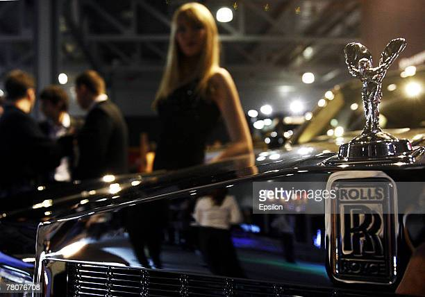 Model poses at the Millionaire Fair 2007 at Crocus Expo November 22, 2007 in Moscow, Russia. The Millionaire Fair, the world's largest exhibit of...