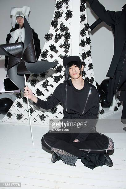 A model poses at the Nicopanda presentation during MercedesBenz Fashion Week Fall 2015 on February 16 2015 in New York City