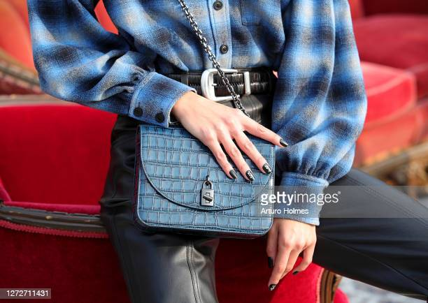 Model poses at the Rebecca Minkoff presentation during September 2020 - New York Fashion Week: The Shows at Spring Studios Terrace on September 15,...
