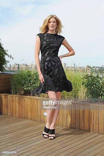 A model poses at the Rita Vinieris presentation during MercedesBenz Fashion Week Spring 2015 at Milk Studios on September 3 2014 in New York City