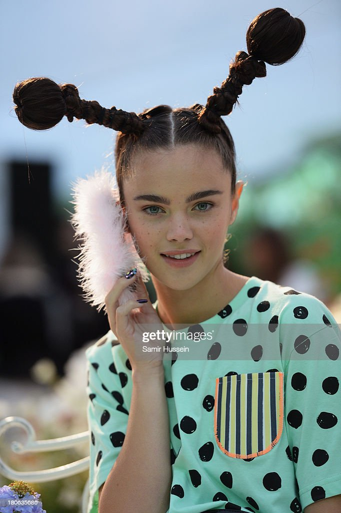 A model poses at the Sophia Webster presentation during London Fashion Week SS14 at TopShop Show Space on September 15, 2013 in London, England.