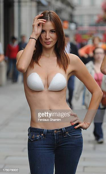 e377f30d5a072 A model poses at the UK launch of InvisiBra at Regent Street on July 31 2013