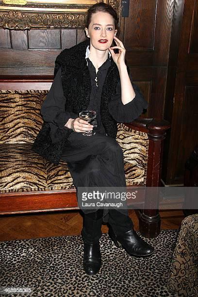 Model poses at the Vivien Ramsay presentation during Fashion Week Fall 2014 at The National Arts Club on February 11, 2014 in New York City.