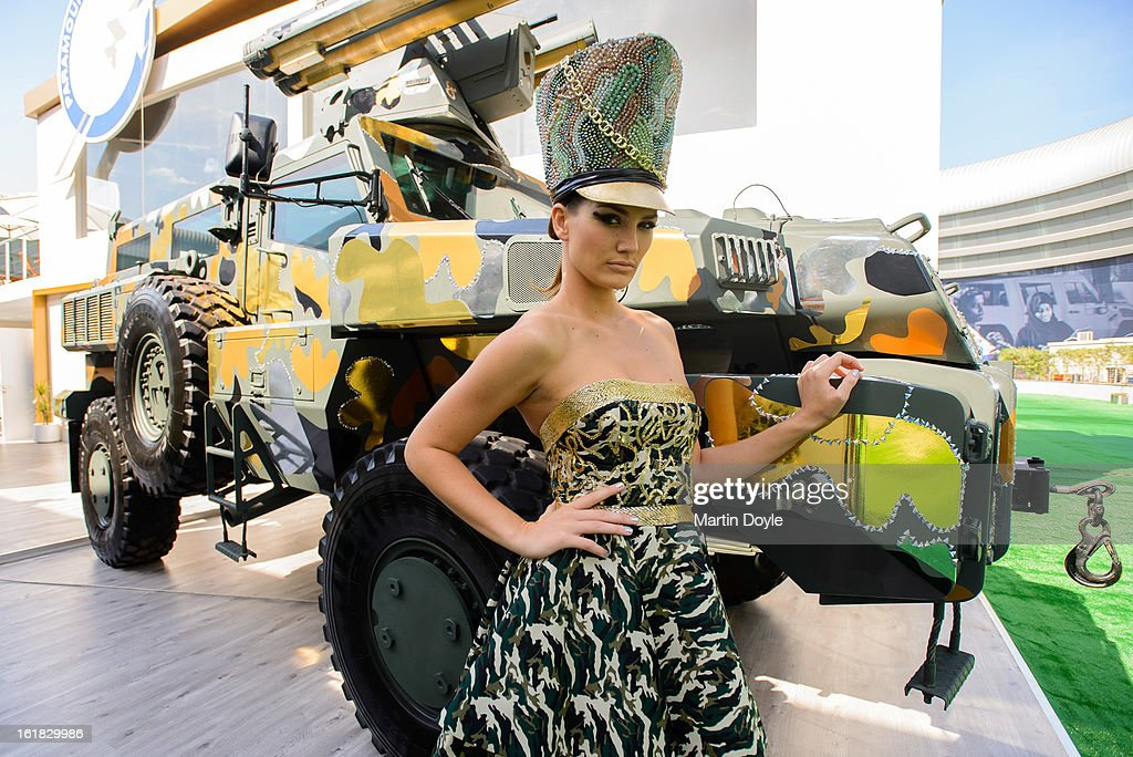World's Toughest Vehicle Gets Couture Fashion Makeover By Paramount Group at IDEX 2013