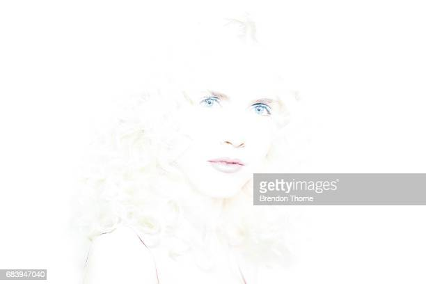 A model poses backstage ahead of the Ginger Smart show at MercedesBenz Fashion Week Resort 18 Collections at Art Gallery of New South Wales on May 17...