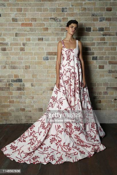 Model poses backstage ahead of the Mercedes-Benz Presents Aje show at Mercedes-Benz Fashion Week Resort 20 Collections at Campbell's Stores on May...