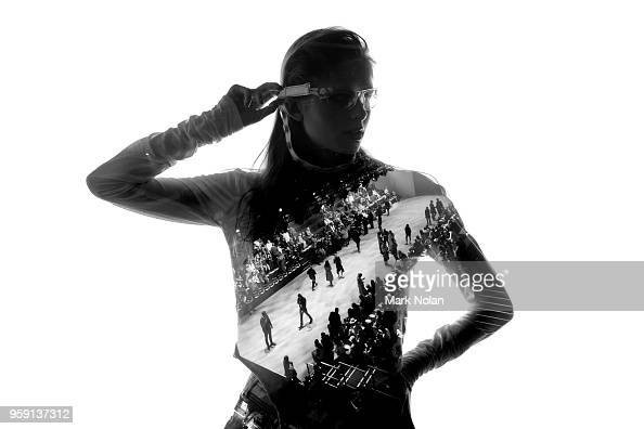 A model poses backstage ahead of the StGeorge NextGen show at MercedesBenz Fashion Week Resort 19 Collections at Carriageworks on May 16 2018 in...