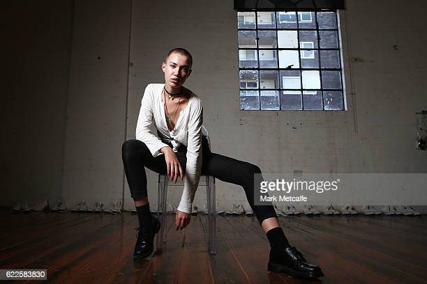 A model poses backstage ahead of the the Faith Connection Runway Show for MADE Sydney at Carriageworks on November 12 2016 in Sydney Australia