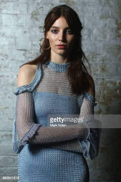 A model poses backstage ahead of the We Are Kindred show at MercedesBenz Fashion Week Resort 18 Collections at Carriageworks on May 17 2017 in Sydney...