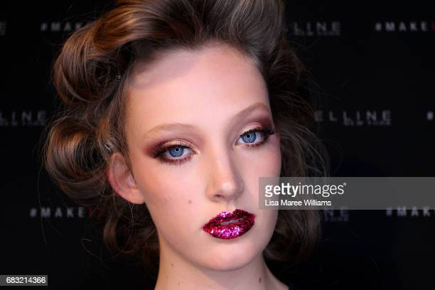 A model poses backstage ahead of the ZHIVAGO show at MercedesBenz Fashion Week Resort 18 Collections at Carriageworks on May 15 2017 in Sydney...