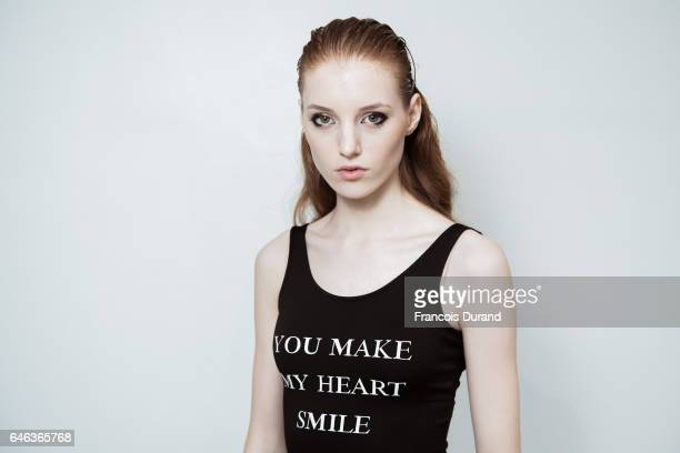 A model poses backstage before the Aalto show as part of the Paris Fashion Week Womenswear Fall/Winter 2017/2018 on February 28 2017 in Paris France