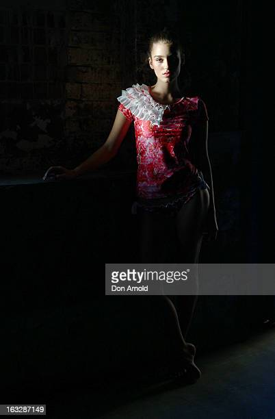 A model poses backstage during Fashion Palette 2013 at Australian Technology Park on March 7 2013 in Sydney Australia