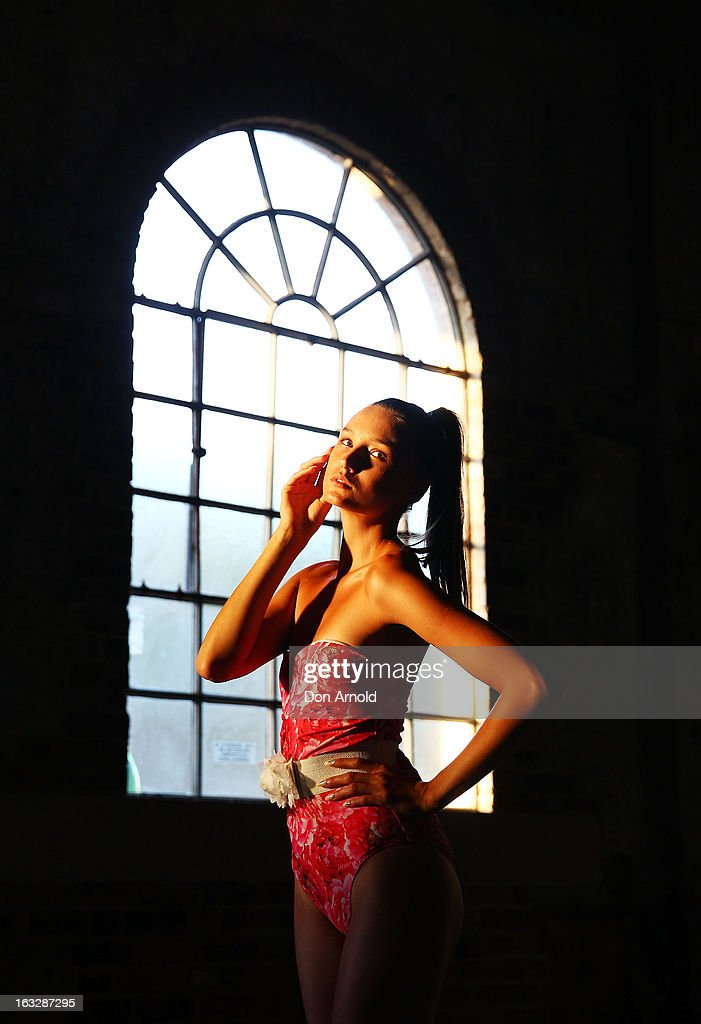 A model poses backstage during Fashion Palette 2013 at Australian Technology Park on March 7, 2013 in Sydney, Australia.