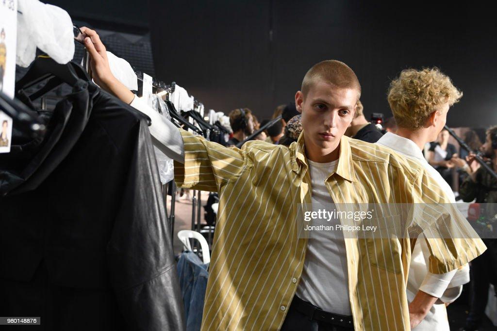 Ami Alexandre Mattiussi : Backstage - Paris Fashion Week - Menswear Spring/Summer 2019