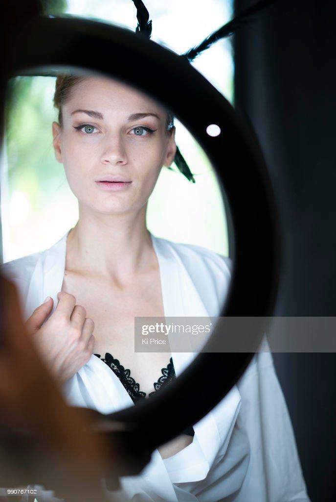 FRA: Celia Kritharioti  : Backstage - Paris Fashion Week - Haute Couture Fall Winter 2018/2019