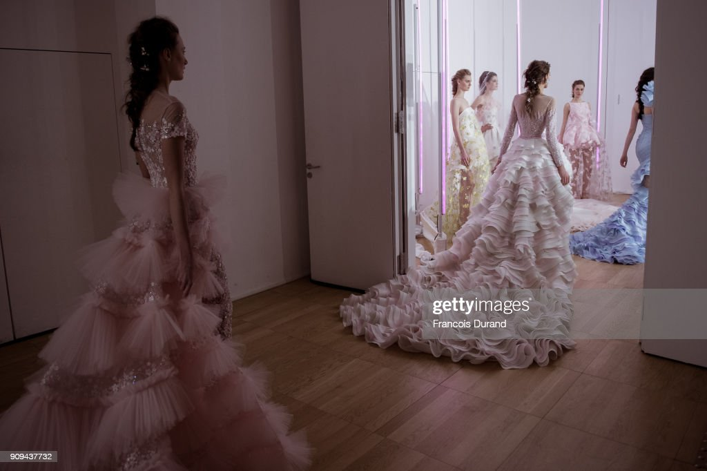 Georges Chakra : Backstage - Paris Fashion Week - Haute Couture Spring Summer 2018
