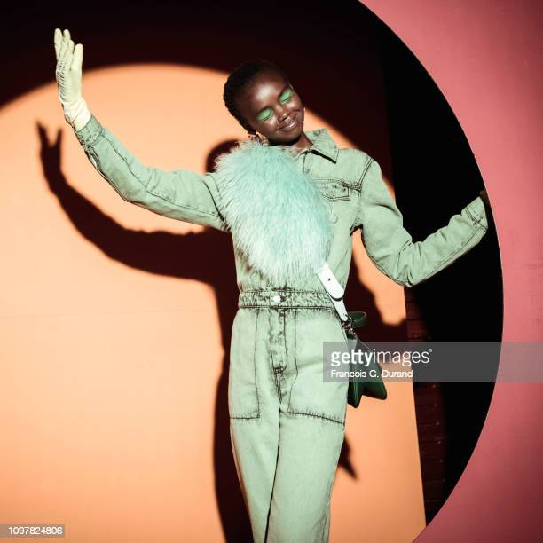 A model poses Backstage prior the Kenzo Menswear Fall/Winter 20192020 show as part of Paris Fashion Week on January 20 2019 in Paris France