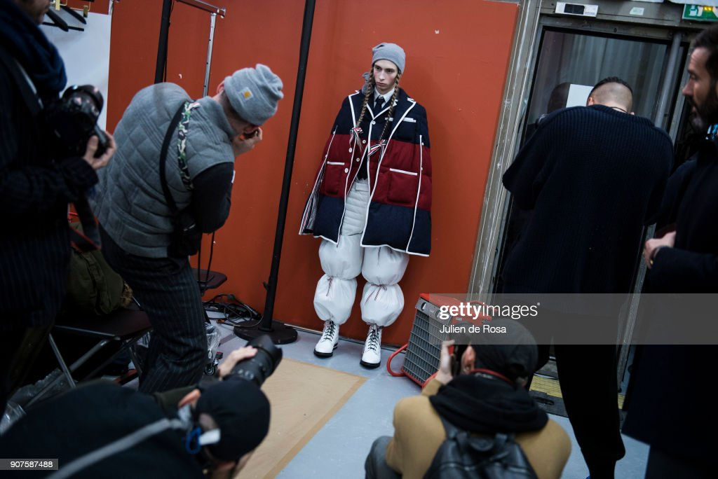 Thom Browne : Backstage - Paris Fashion Week - Menswear F/W 2018-2019