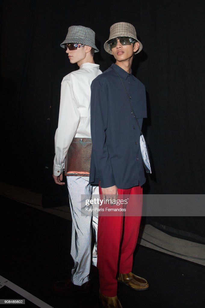 Kenzo : Backstage - Paris Fashion Week - Menswear F/W 2018-2019