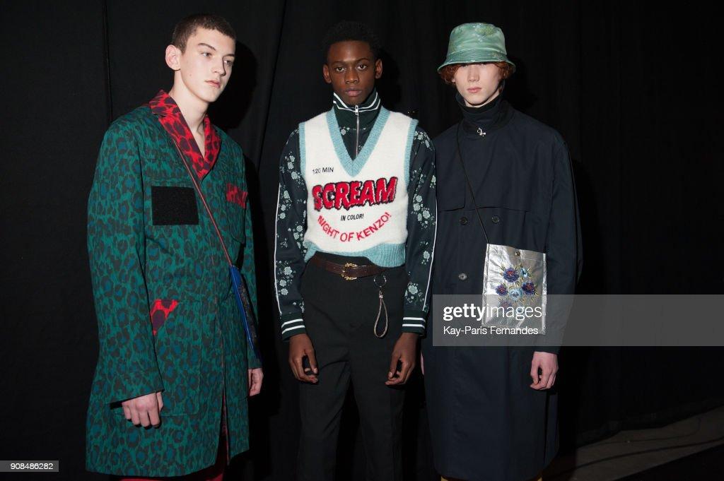 Kenzo : Backstage - Paris Fashion Week - Menswear F/W 2018-2019 : ニュース写真