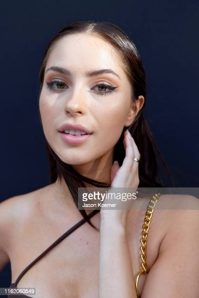 Model poses backstage wearing Sage Swim at Fashion Palette Miami Swim Week – The Australian Collection Show 2019: TJ Swim, Lil & Emm, Lahana Swim,...