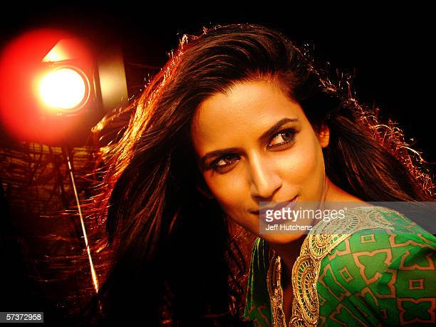 A model poses during a fashion shoot on September 14 2005 in Mumbai India Emerging from one of the most deadly monsoon seasons in recent history...