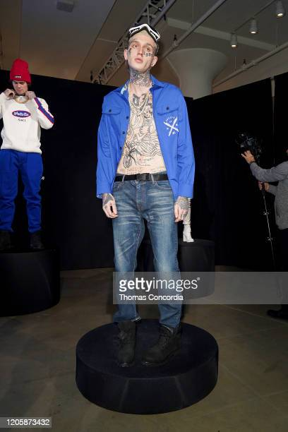 A model poses during Klarna STYLE360 Hosts Andy Hilfiger Presents Artistix By Greg Polisseni Presentation/See Shop on February 12 2020 in New York...