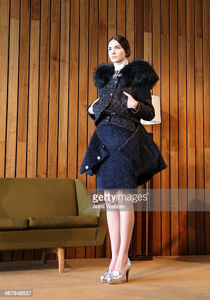 A model poses during Made For Peroni Young Designer Winner CG at The Standard Hotel on February 7 2014 in New York City