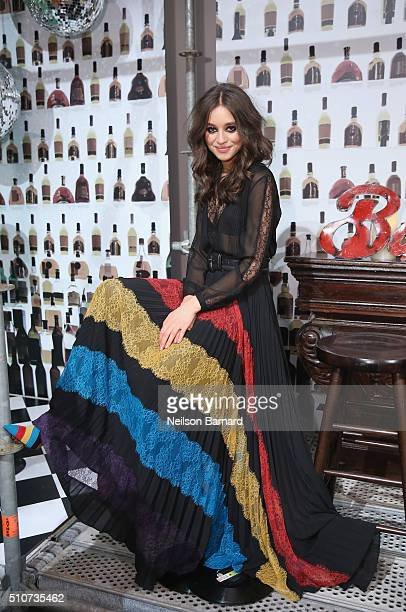 A model poses during the Alice Olivia By Stacey Bendet Presentation at The Gallery Skylight at Clarkson Sq on February 16 2016 in New York City